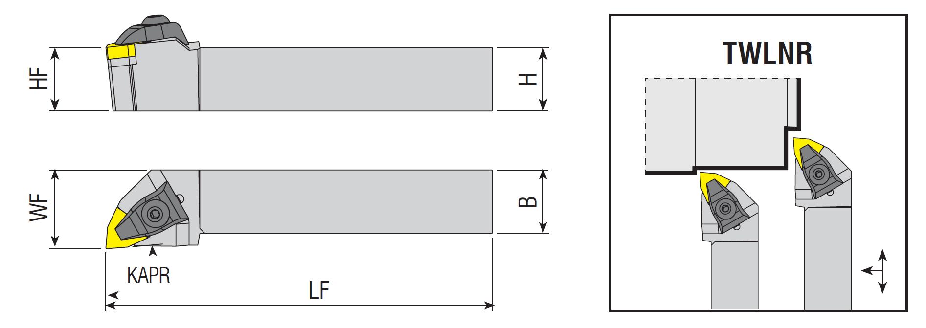 Drehhalter TWLNR / TWLNL