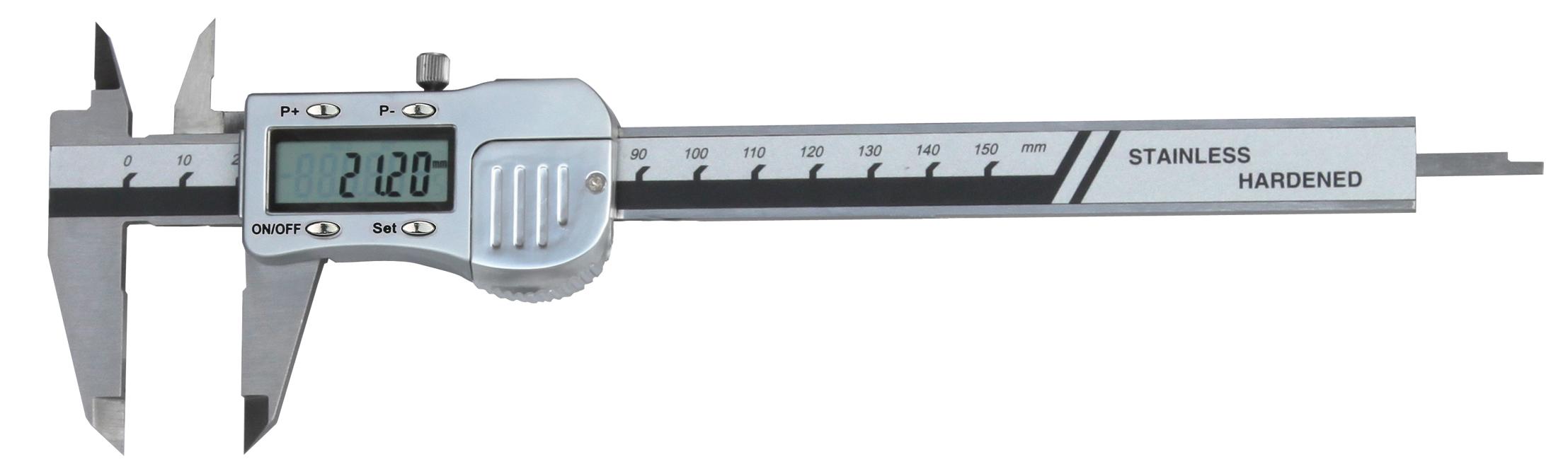 Digital-Taschen-Messschieber - Metallgehäuse - PRESET-Taste