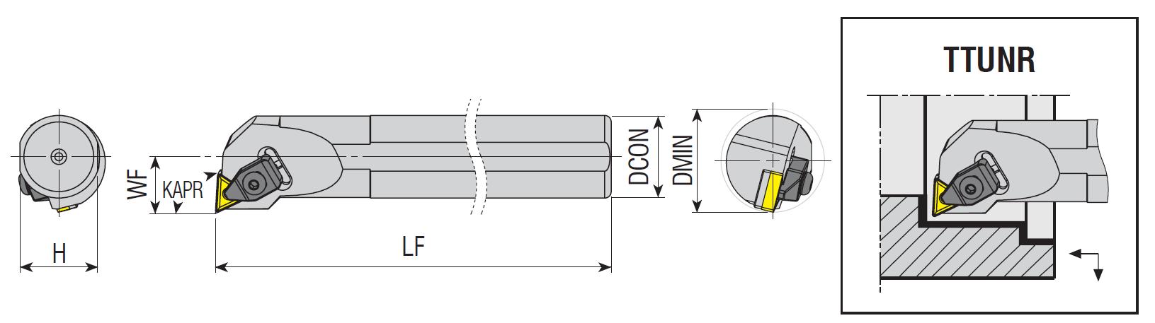 Bohrstangen TTUNR / TTUNL