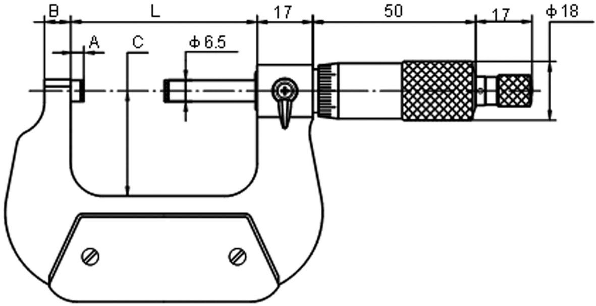Bügelmessschraube DIN 863 - Mit Kalibrierzertifikat