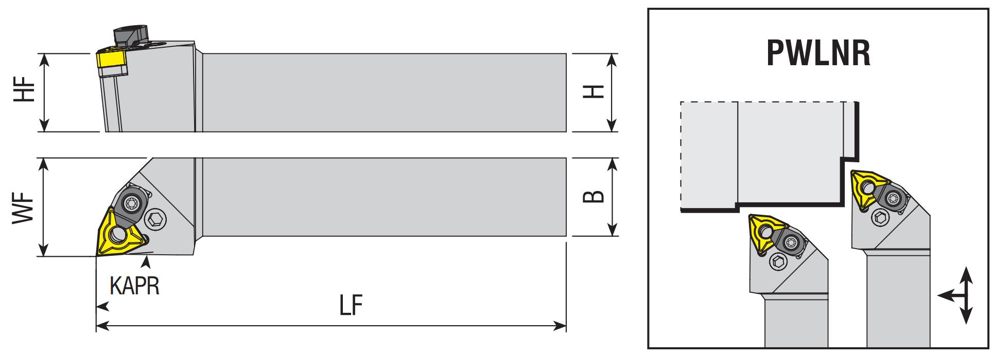 Drehhalter PWLNR / PWLNL