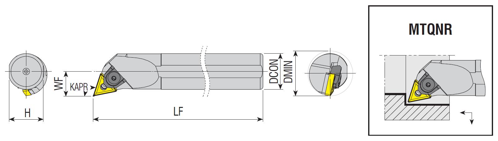 Bohrstangen MTQNR / MTQNL