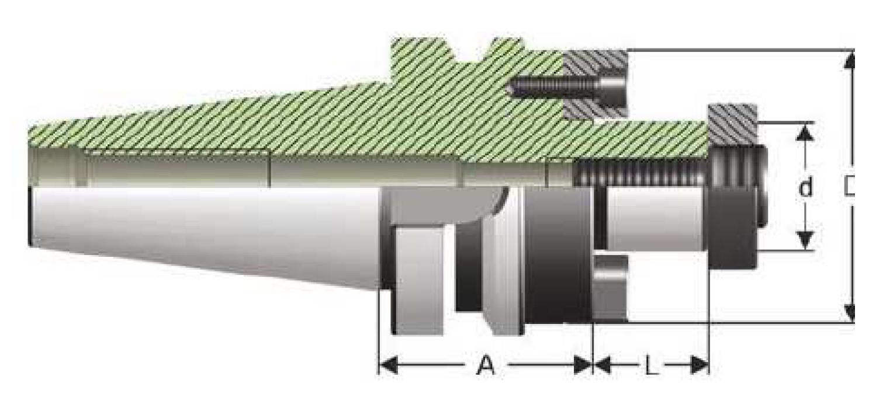 BT40 - Messerkopfaufnahme - MAS 403 BT