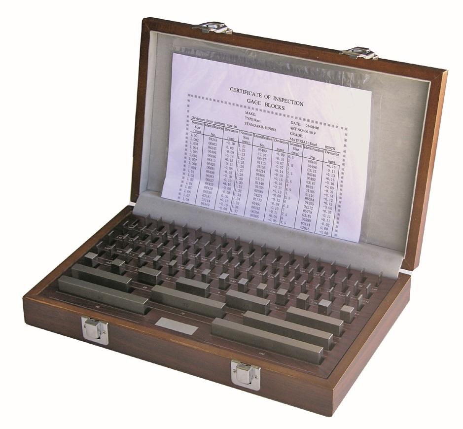 Hartmetall-Endmaßsatz  nach DIN 3650