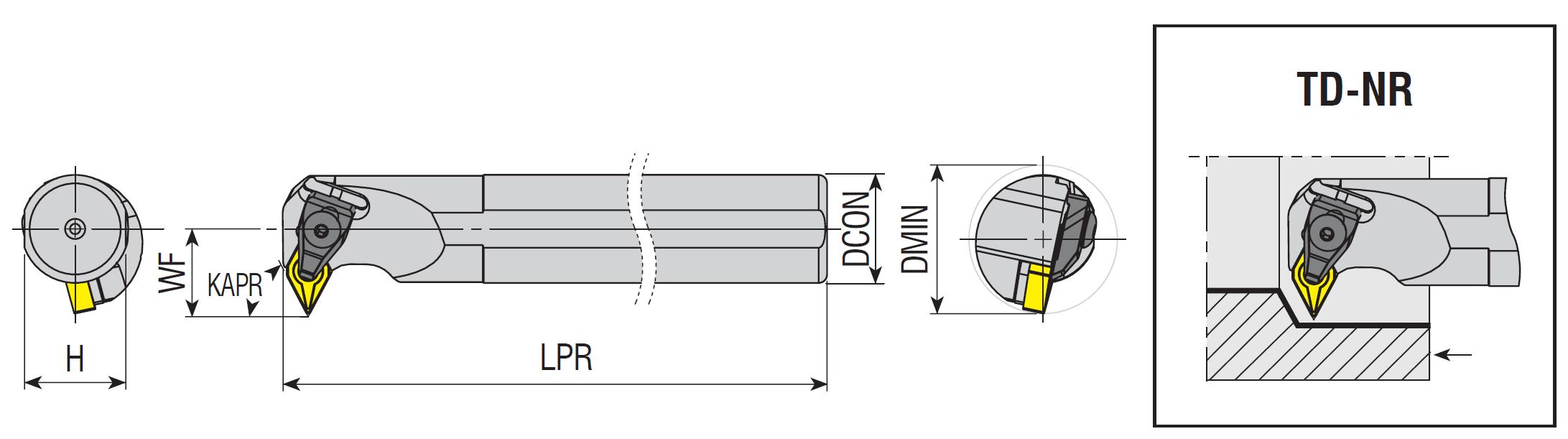 Bohrstangen TD-NR / TD-NL