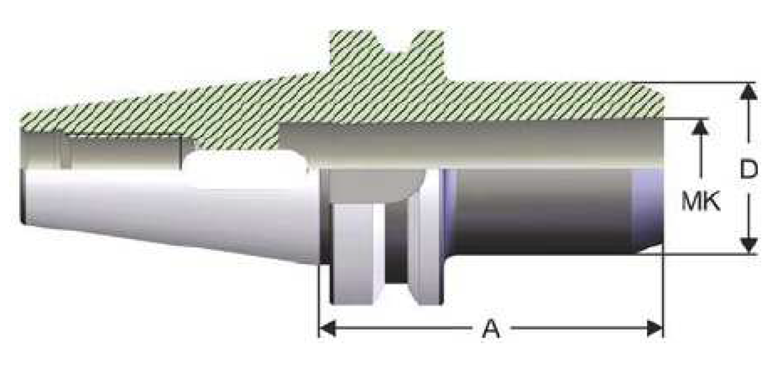 BT50 - Zwischenhülse für Morsekegel - MAS 403 BT