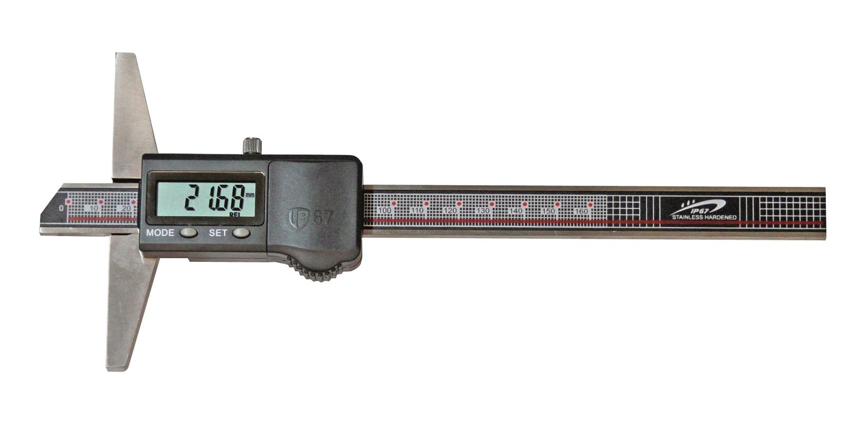 Digital-Tiefen-Messschieber - IP67 Schutz