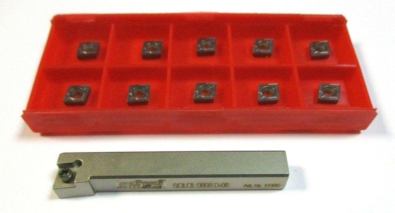 Drehhalter SCLCR / SCLCL inklusive 10 WSP CCMT060204 für Stahl / VA