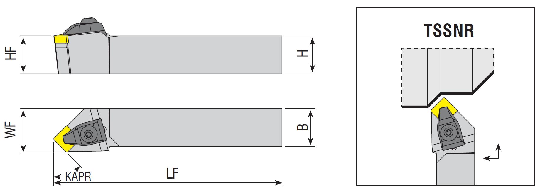 Drehhalter TSSNR / TSSNL