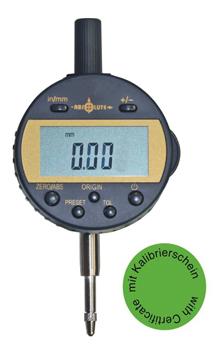 Digital-Messuhr 12,7 mm -Absolut-System  - Mit Kalibrierzertifikat