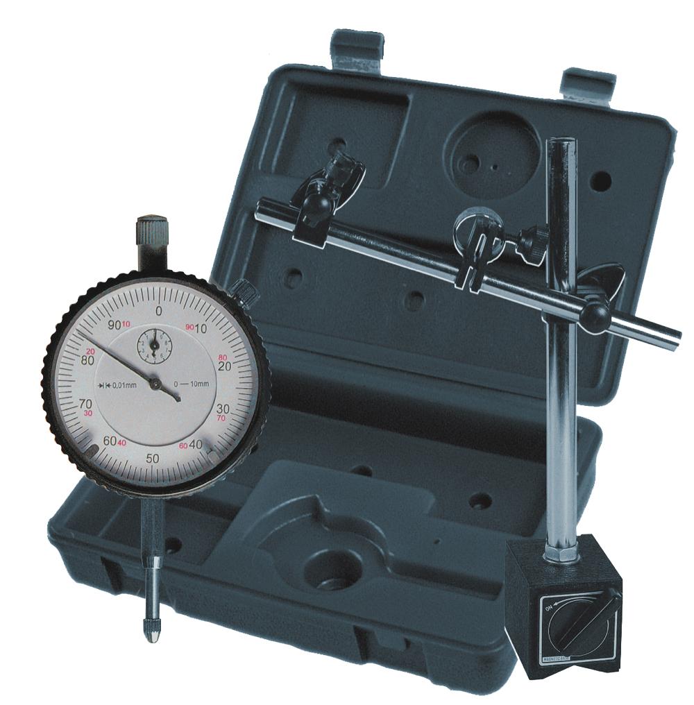 Messuhr 10 mm + Magnet-Messstativ 60 kg