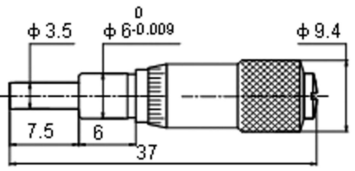 Klein-Einbau-Messchraube - 6,5 mm