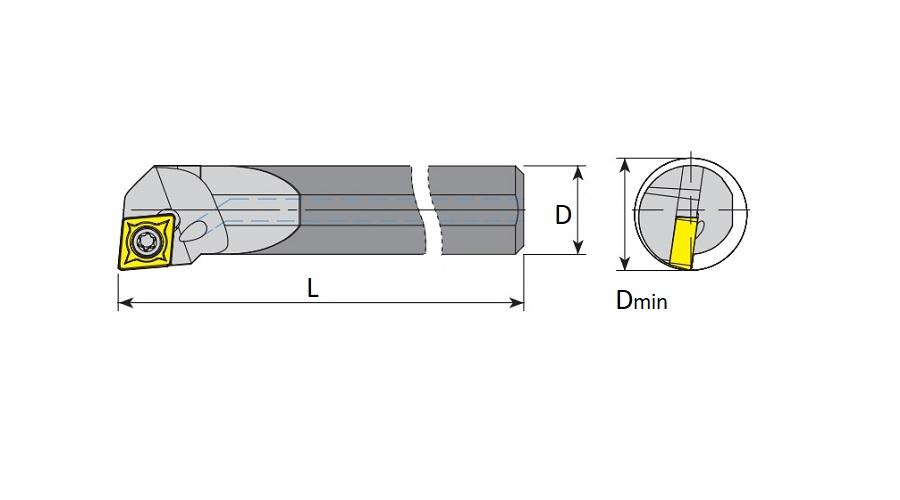 HM Bohrstangen SCLCR / SCLCL mit Innenkühlung