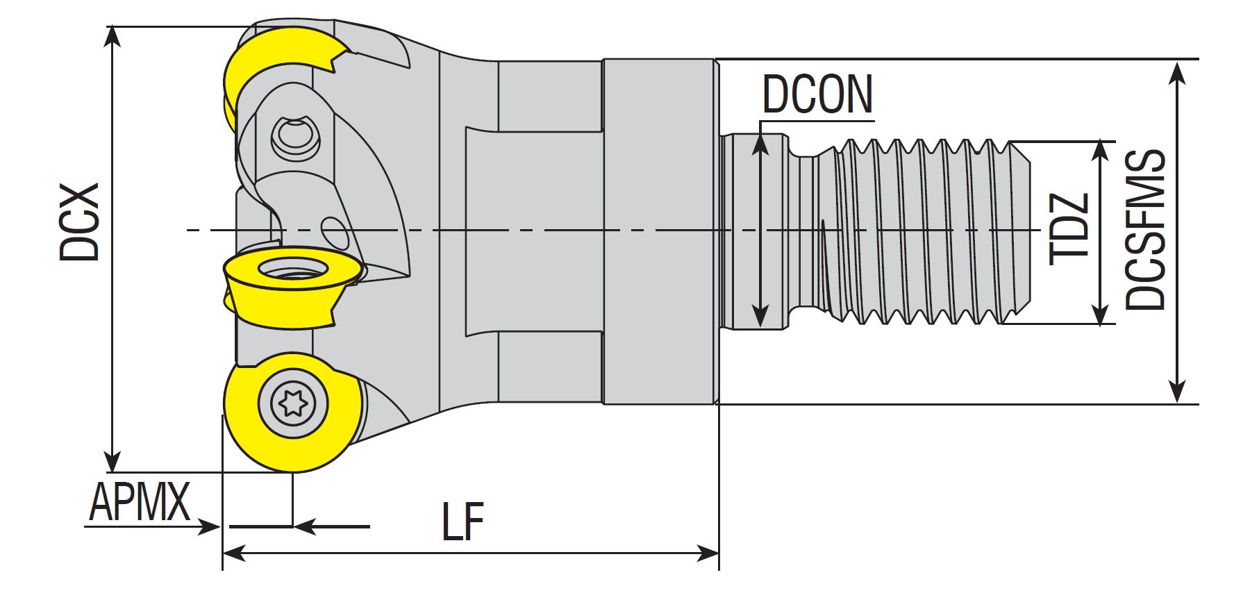 Wendeplatten - Einschraubfräser rund für RDMT