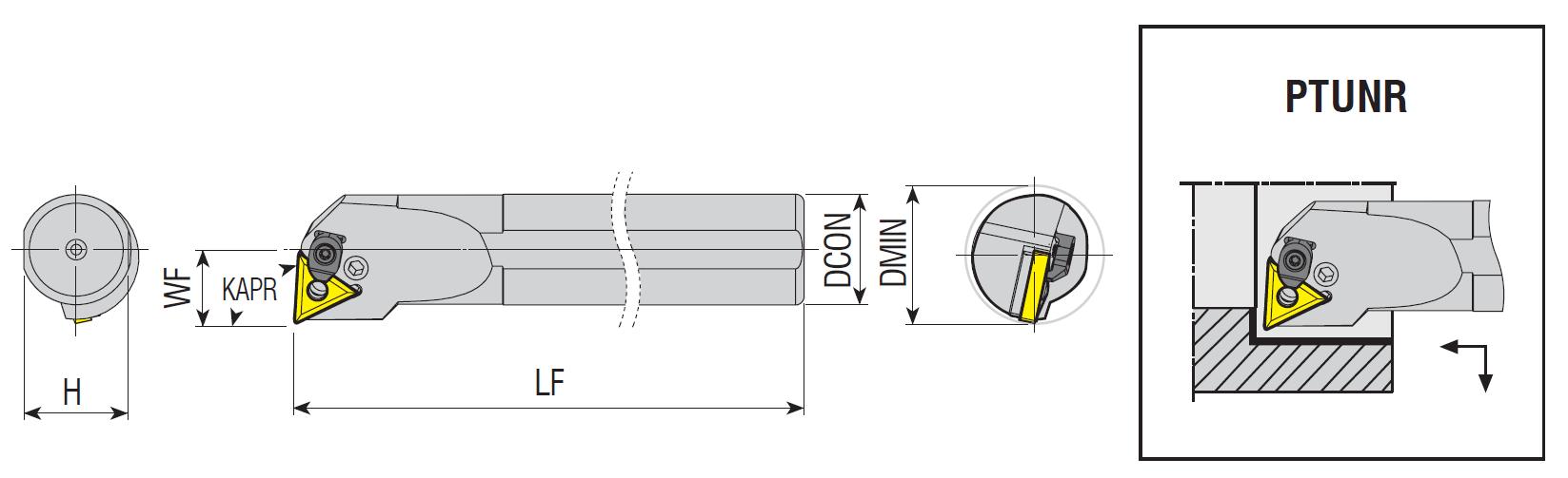 Bohrstangen PTUNR / PTUNL