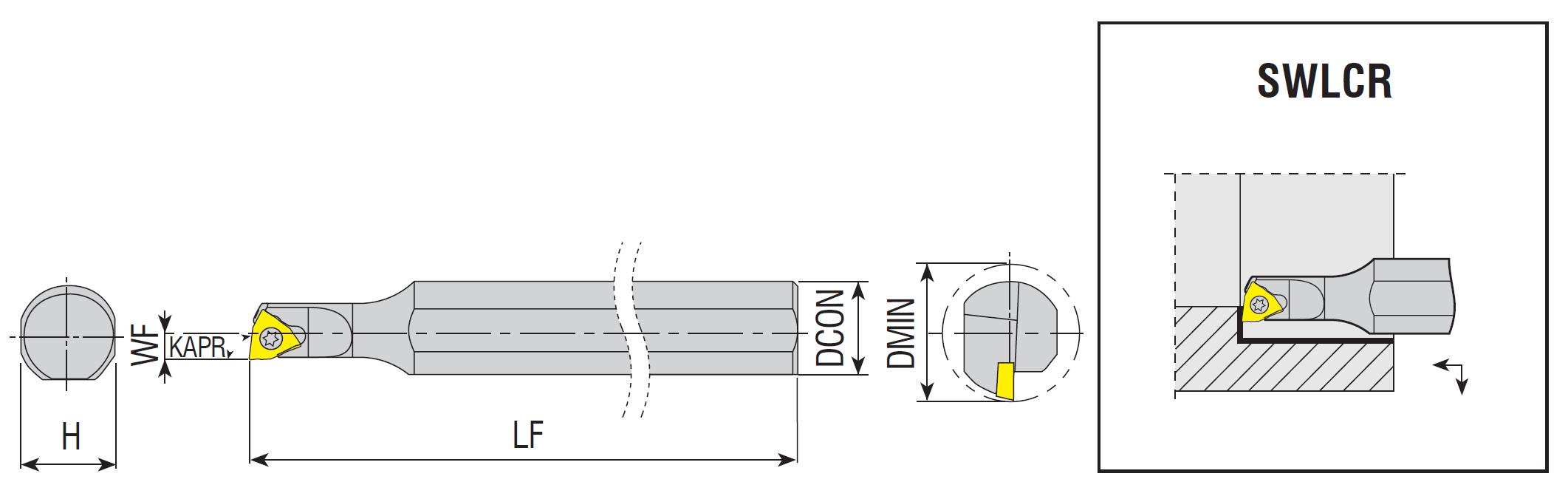 Bohrstangen SWLCR