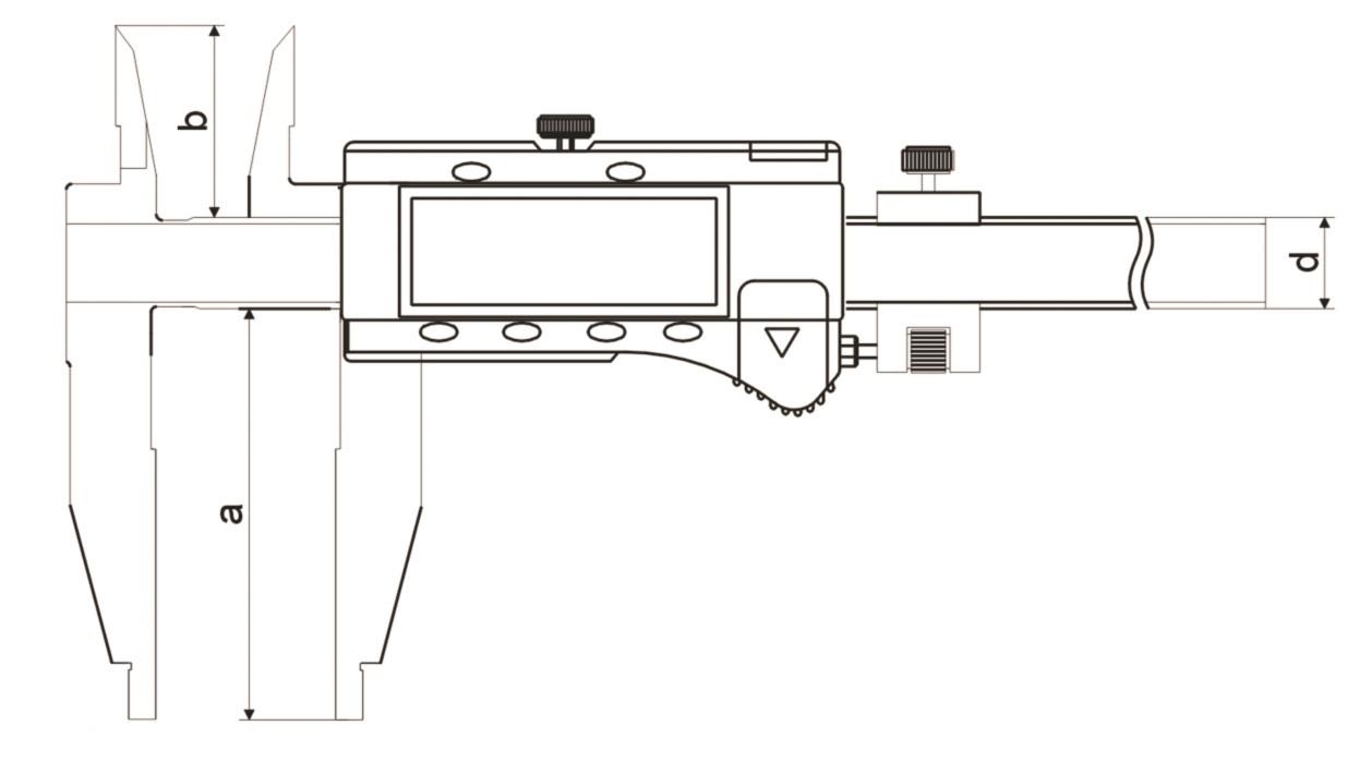 Digital-Werkstatt-Messschieber - mit Kreuzspitzen und Messerschnabel