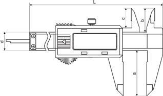 Digital-Taschen-Messschieber - für Linkshänder