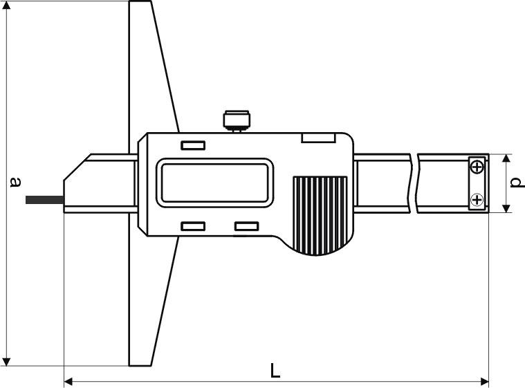 Digital-Tiefen-Messschieber - Stiftspitze - Metallgehäuse